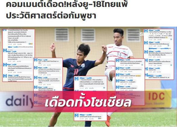 Cổ động viên Thái Lan nổi giận sau cú sốc lịch sử thua U18 Campuchia - Ảnh 1.