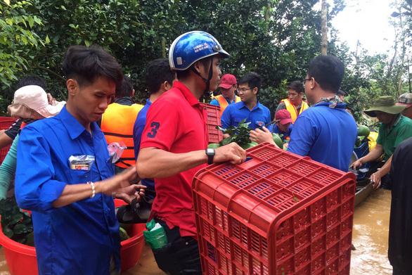 100 bè cá trôi dạt, một người bị nước cuốn mất tích ở Đồng Nai - Ảnh 1.