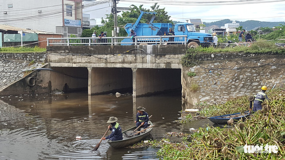 Cá chết trắng hàng tấn trên hồ Hòa Phú, Đà Nẵng - Ảnh 3.
