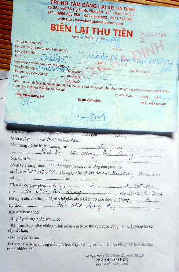 Chiêu làm tiền từ dịch vụ đổi giấy phép lái xe - Ảnh 1.