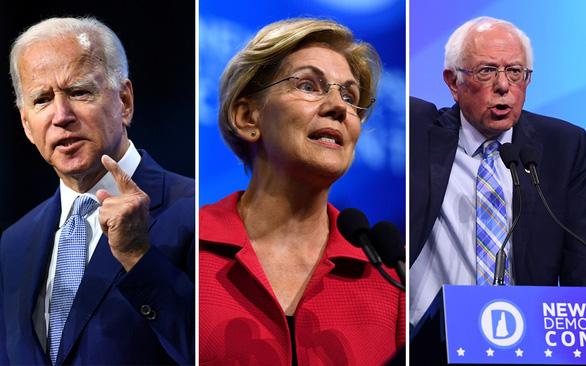 Vòng tranh luận lần 3 của Đảng Dân chủ: Cuộc đua tam mã dần lộ diện - Ảnh 1.