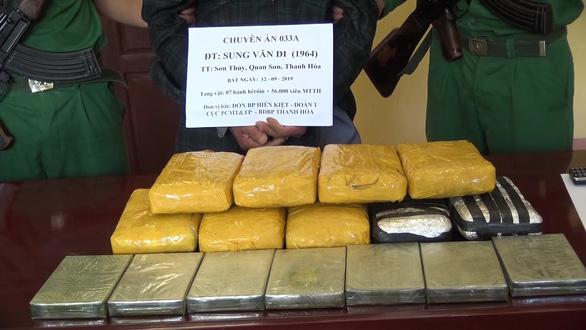 Bắt giữ người vận chuyển 7 bánh heroin và 56.000 viên ma túy tổng hợp - Ảnh 3.