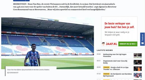 CLB Heerenveen xác nhận trả lương Văn Hậu hơn 11 tỉ đồng mỗi năm - Ảnh 1.