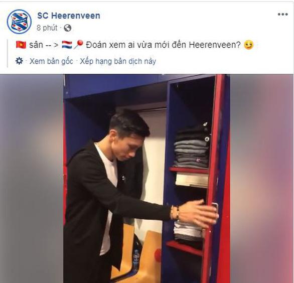 Văn Hậu chính thức vào nhà Heerenveen, nhận tủ quần áo số 15 - Ảnh 2.