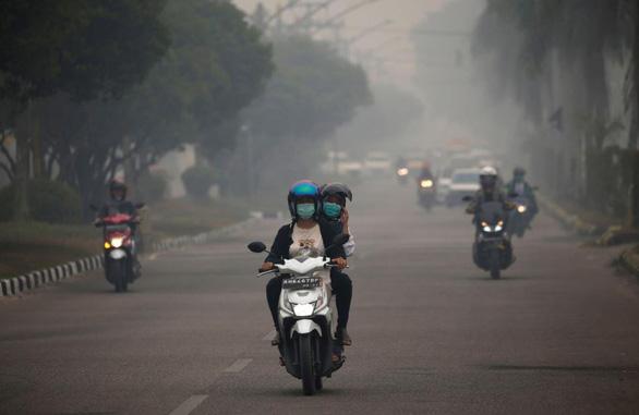 Khói bụi cháy rừng, Indonesia đóng cửa hàng loạt trường, mở thêm trạm y tế - Ảnh 1.