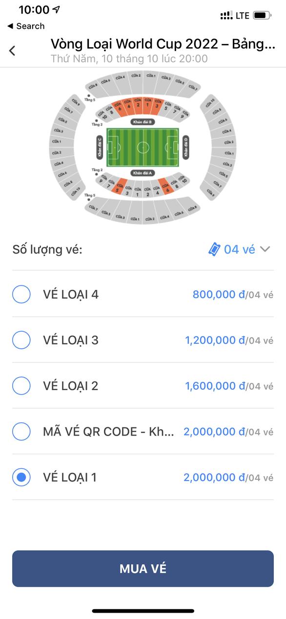 Vé xem trận Việt Nam - Malaysia đợt 1 bán hết trong chưa đầy 3 phút? - Ảnh 1.