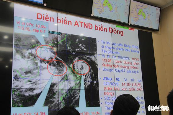 Ba áp thấp nhiệt đới phức tạp, còn 340 ngư dân ở biển Hoàng Sa - Ảnh 1.