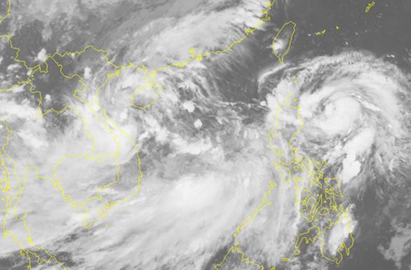 Hai áp thấp nhiệt đới và bão cùng xuất hiện là hiếm gặp - Ảnh 1.
