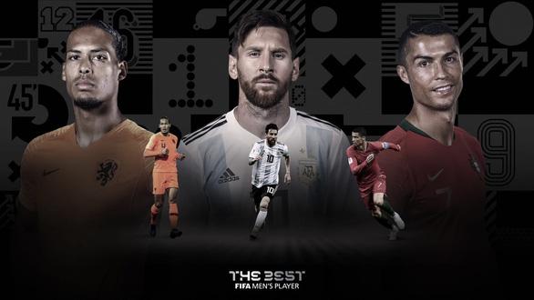 Messi, Ronaldo và Van Dijk lọt top 3 đề cử FIFA The Best - Ảnh 1.