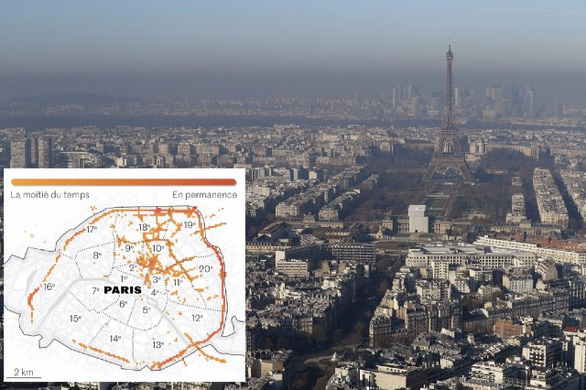 Độc đáo tấm bản đồ chỉ ra chính xác mức độ ô nhiễm không khí - Ảnh 1.