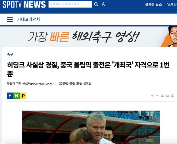 Báo Hàn: 'Thay Hiddink rồi, bóng đá Trung Quốc vẫn khó có vé dự Olympic' - Ảnh 1.