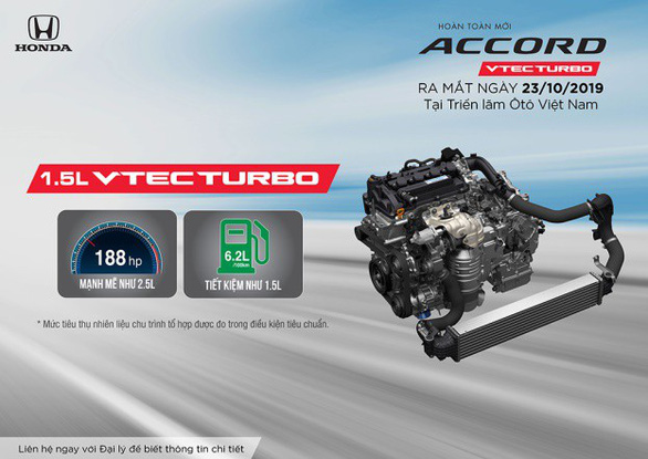 Honda Accord thế hệ thứ 10 ra mắt thị trường Việt Nam từ tháng 10-2019 - Ảnh 2.