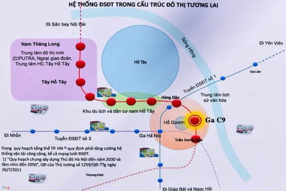Đường sắt Nam Thăng Long - Trần Hưng Đạo 11 năm chờ phê duyệt ga ngầm - Ảnh 2.