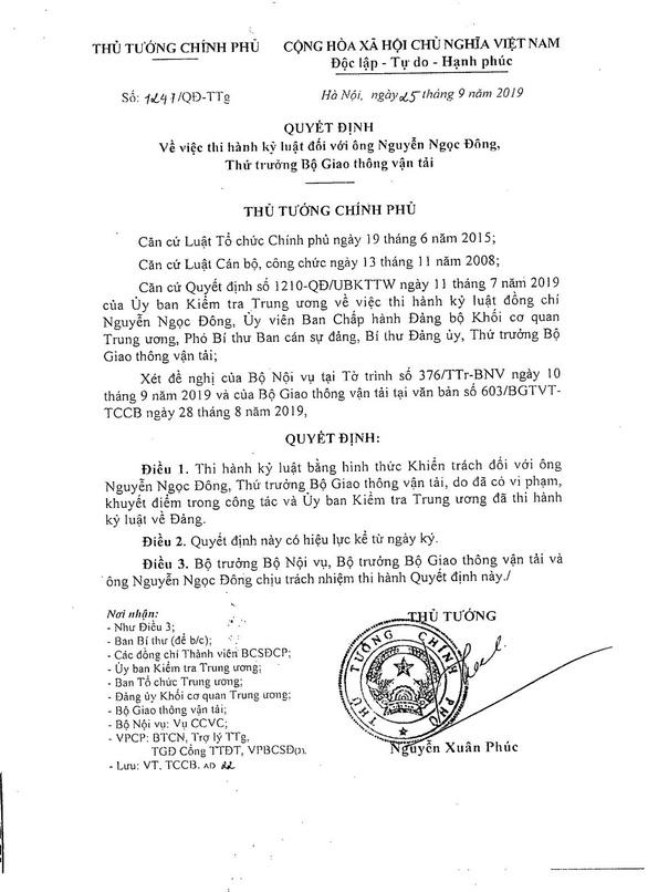 Kỷ luật ba thứ trưởng, một cựu thứ trưởng Bộ Giao thông vận tải - Ảnh 3.