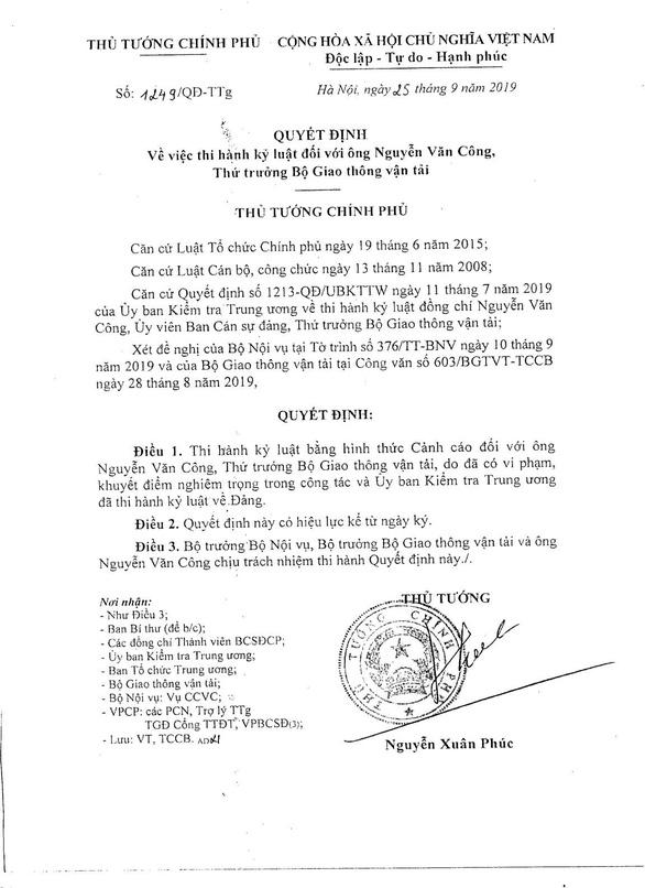Kỷ luật ba thứ trưởng, một cựu thứ trưởng Bộ Giao thông vận tải - Ảnh 5.