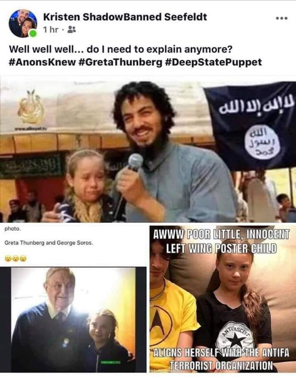 'Cô bé môi trường' Greta Thunberg chụp ảnh cùng khủng bố IS? - Ảnh 2.