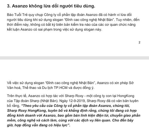 Sharp Việt Nam gửi đơn tố cáo Asanzo đến Bộ Công an - Ảnh 2.