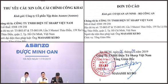 Sharp Việt Nam gửi đơn tố cáo Asanzo đến Bộ Công an - Ảnh 1.