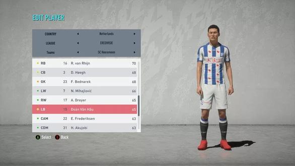 Văn Hậu được đưa vào game FIFA 20, chỉ số tiềm năng ngang Chanathip - Ảnh 1.