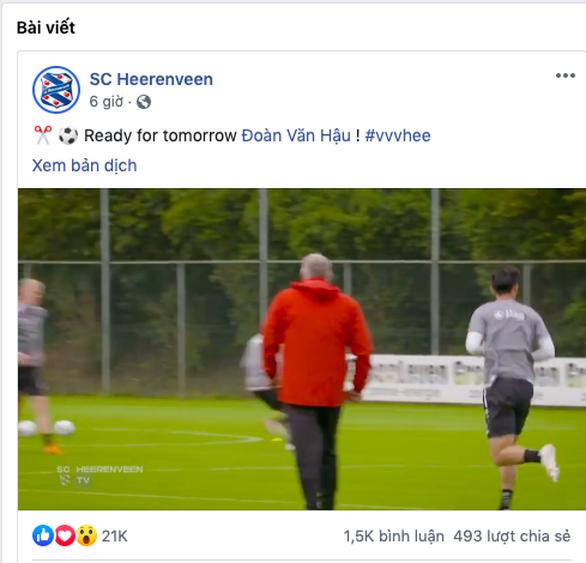 Lịch trực tiếp CLB Heerenveen: Chờ Văn Hậu ra mắt - Ảnh 2.