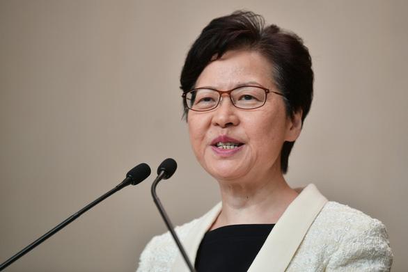 Lãnh đạo Hong Kong Carrie Lam: Tôi chưa bao giờ nộp đơn từ chức - Ảnh 1.