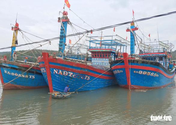 Tàu nằm bờ sau bão, ngư dân lại thấp thỏm lo áp thấp dồn dập - Ảnh 2.