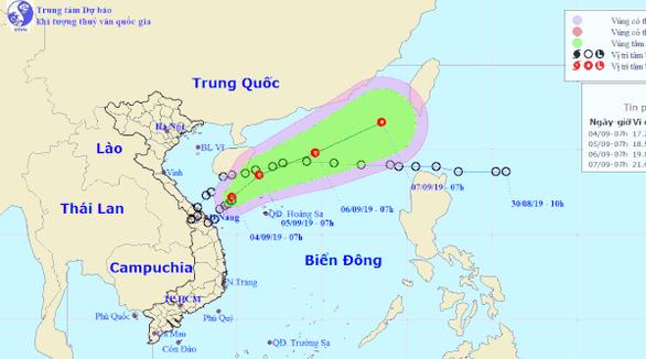 Từ nay đến mai từ Quảng Nam sẽ mưa tơi bời