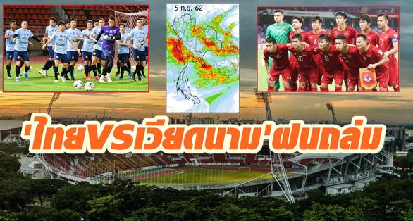 Báo Thái nhắc CĐV đem dù, áo mưa vì áp thấp nhiệt đới trước trận gặp tuyển Việt Nam - Ảnh 1.