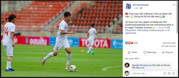 CLB Heerenveen gây sốt khi chúc Văn Hậu may mắn trong trận gặp Thái Lan - Ảnh 1.