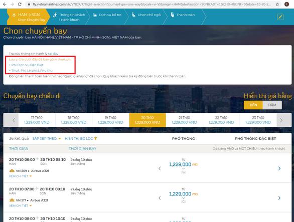 Vietnam Airlines muốn đối thủ niêm yết giá vé máy bay bao gồm thuế, phí - Ảnh 1.