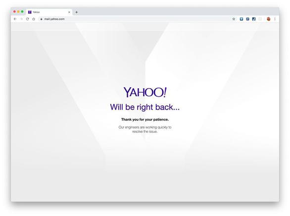 Yahoo Mail bất ngờ sự cố, người dùng lao đao - Ảnh 1.