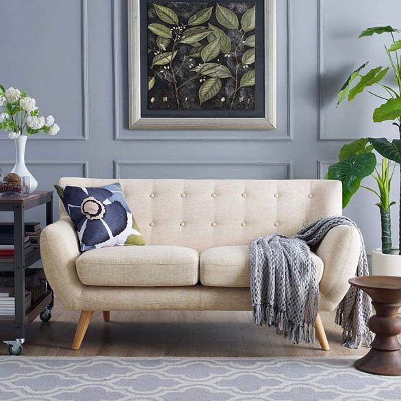 Nhà nhỏ mà lại thích sự ấm cúng, hãy chọn sofa đôi - Ảnh 3.