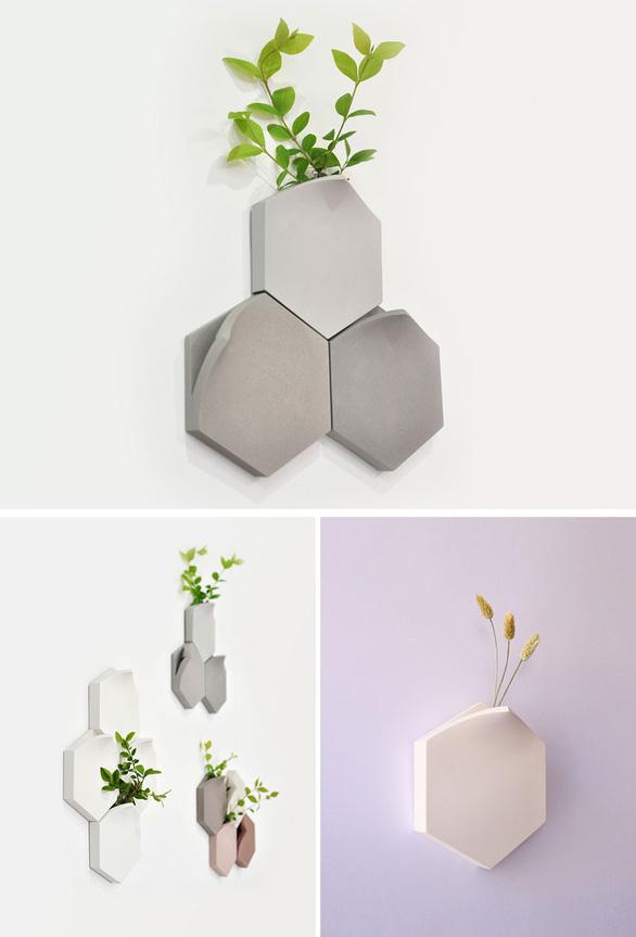 Nhà thêm cá tính với bình hoa gắn tường độc đáo - Ảnh 3.