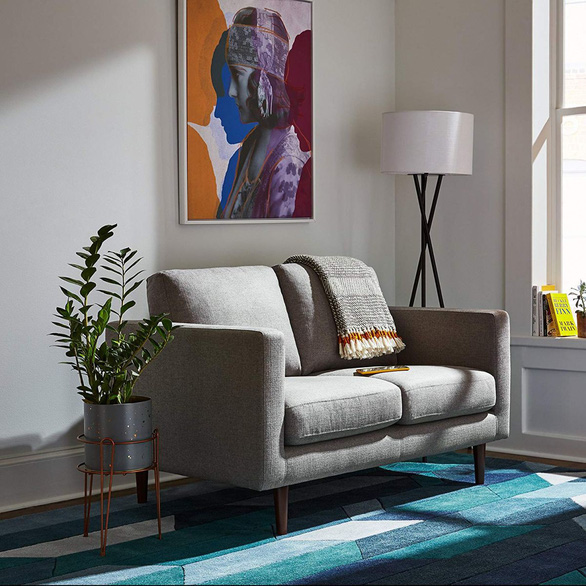 Nhà nhỏ mà lại thích sự ấm cúng, hãy chọn sofa đôi - Ảnh 7.