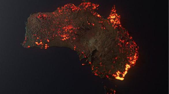 Ảnh cháy rừng như hỏa ngục ở Úc khiến dân mạng xôn xao: ảnh vệ tinh hay ảnh giả? - Ảnh 1.