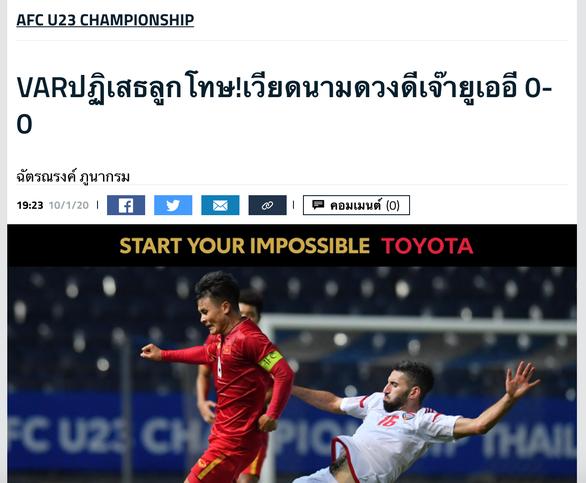 Goal Thái Lan: Việt Nam may mắn hòa UAE nhờ VAR - Ảnh 1.