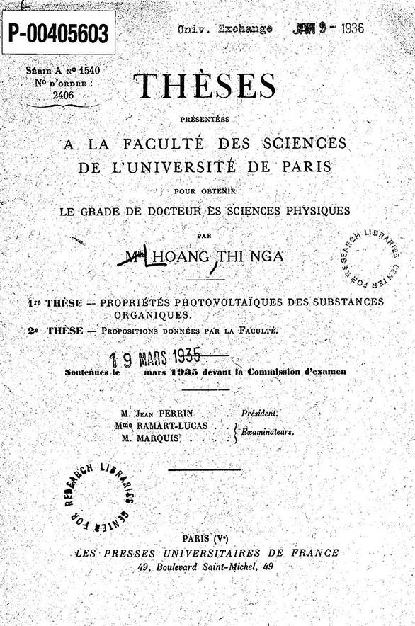 Cuộc đời lặng lẽ, bí ẩn của nữ tiến sĩ Tây học đầu tiên của Việt Nam - Ảnh 2.