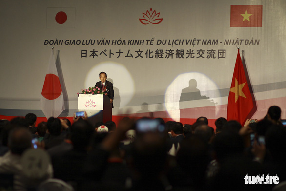 Tổng thư ký Đảng Dân chủ tự do Nhật Bản trồng sen cổ, thắt chặt quan hệ Việt - Nhật - Ảnh 3.