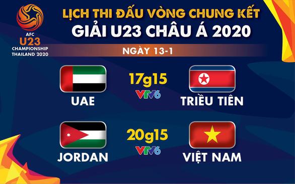 Lịch trực tiếp Giải U23 châu Á 2020: U23 Việt Nam gặp Jordan - Ảnh 1.