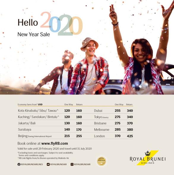 Năm mới, thoả thích bay cùng Royal Brunei Airlines - Ảnh 1.