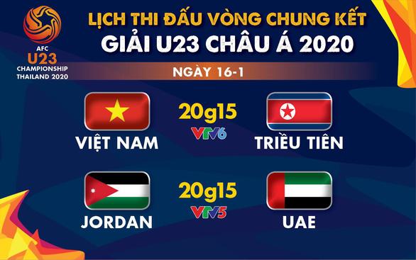Lịch trực tiếp Giải U23 châu Á: U23 Việt Nam gặp U23 Triều Tiên - Ảnh 1.