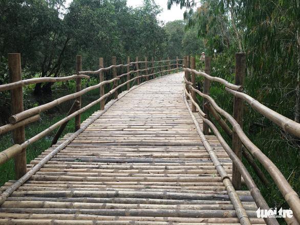 Самый длинный бамбуковый мост Вьетнама