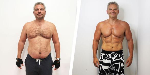 Cai rượu ăn rau, người đàn ông giảm 27kg sau 16 tuần - Ảnh 1.