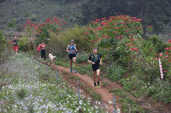 Chú chó 2 tuổi chinh phục cự ly 42km giải marathon tại Mộc Châu - Ảnh 1.