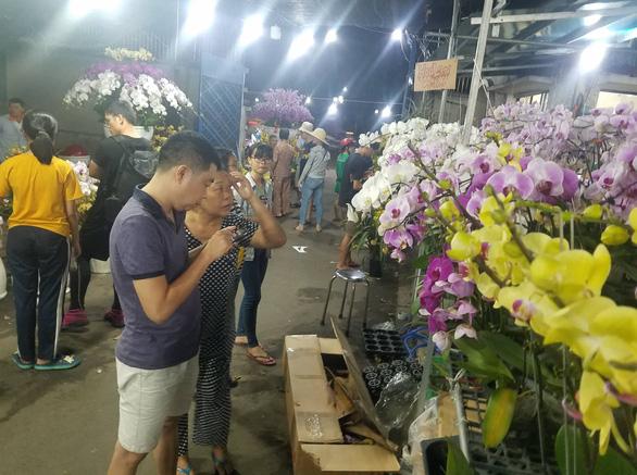 Cận tết, dân Sài Gòn rủ nhau đi săn lan hồ điệp đến khuya - Ảnh 4.