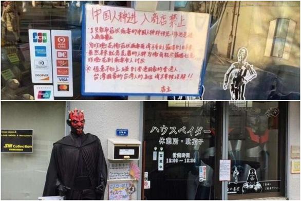 Cửa hàng Nhật gây tranh cãi vì để bảng cấm du khách Trung Quốc - Ảnh 1.