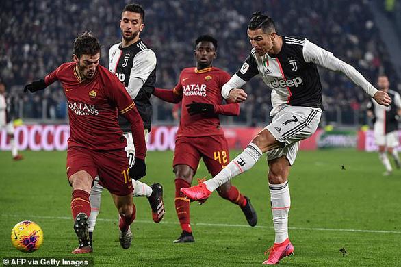 Ronaldo đột phá ghi bàn, Juventus hạ Roma để vào bán kết Cúp quốc gia Ý - Ảnh 1.