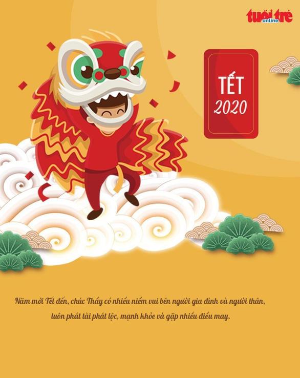Cùng Tuổi Trẻ Online tạo thiệp chúc tết thầy cô năm mới 2020 - Ảnh 4.