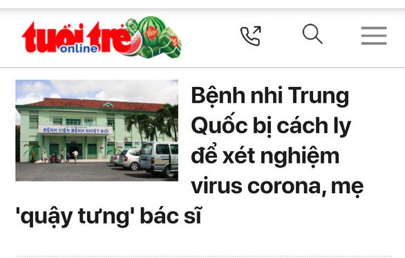 Hai bệnh nhi Trung Quốc ở Khánh Hòa âm tính virus corona - Ảnh 1.