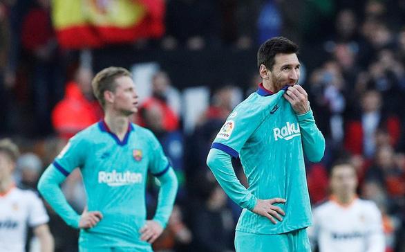 Messi bất lực, Barcelona nhận thất bại trước Valencia - Ảnh 1.